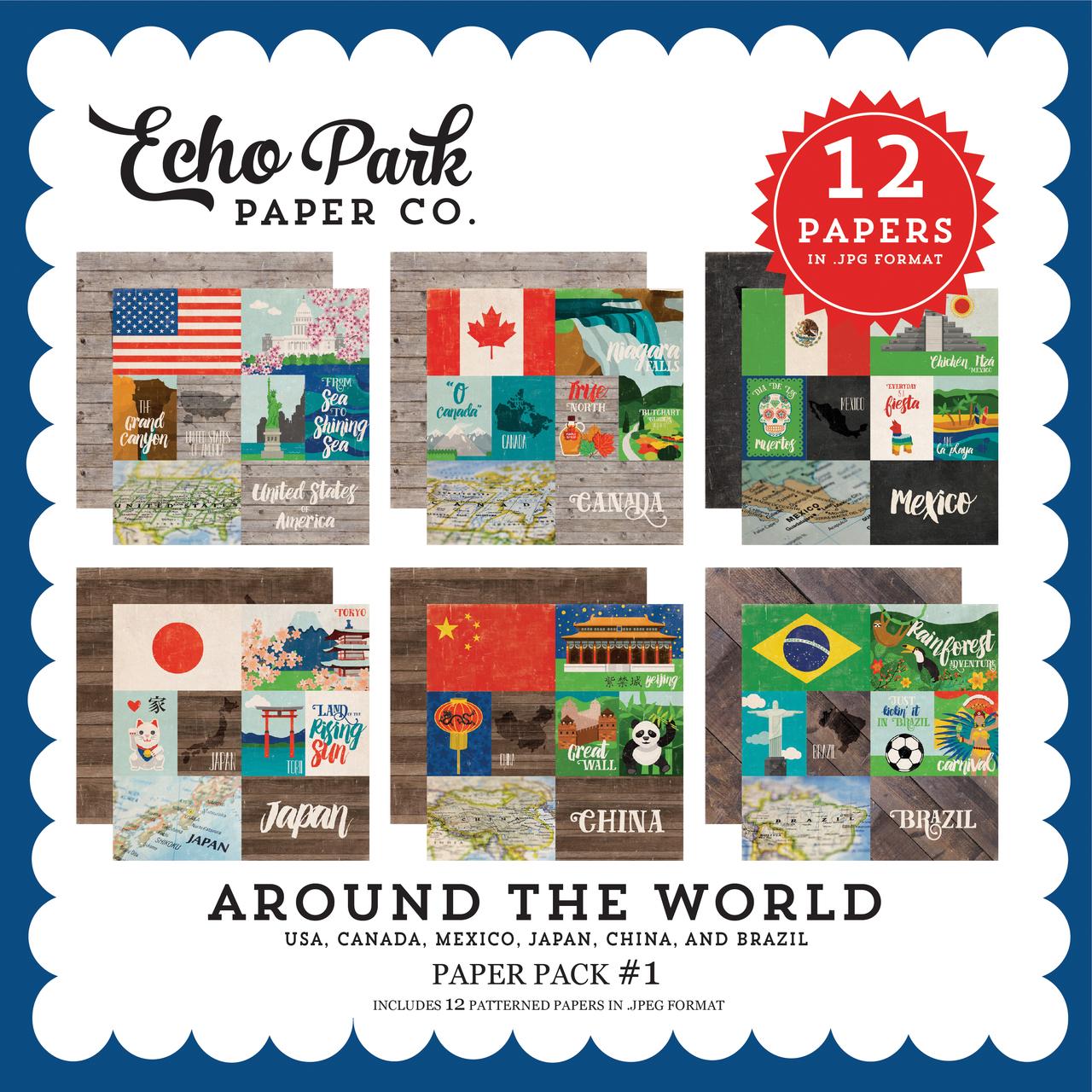 Around the World Paper Pack #1