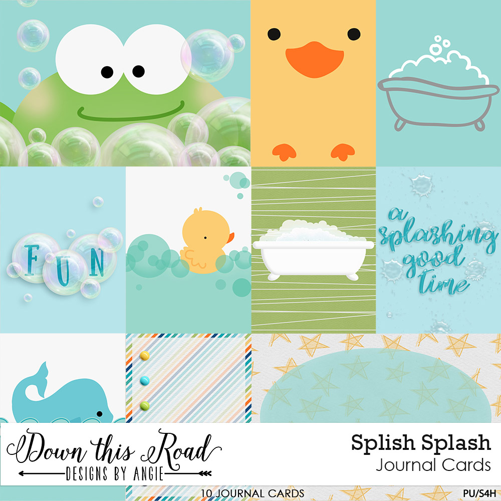 Splish Splash Journal Cards