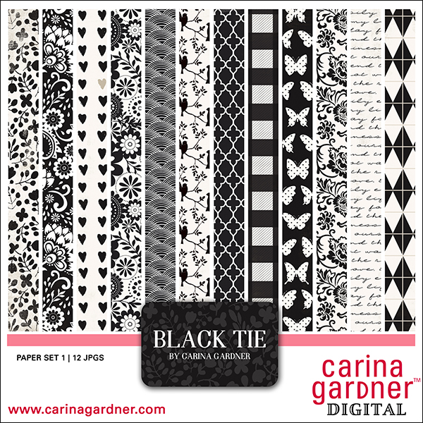 Black Tie Paper Collection