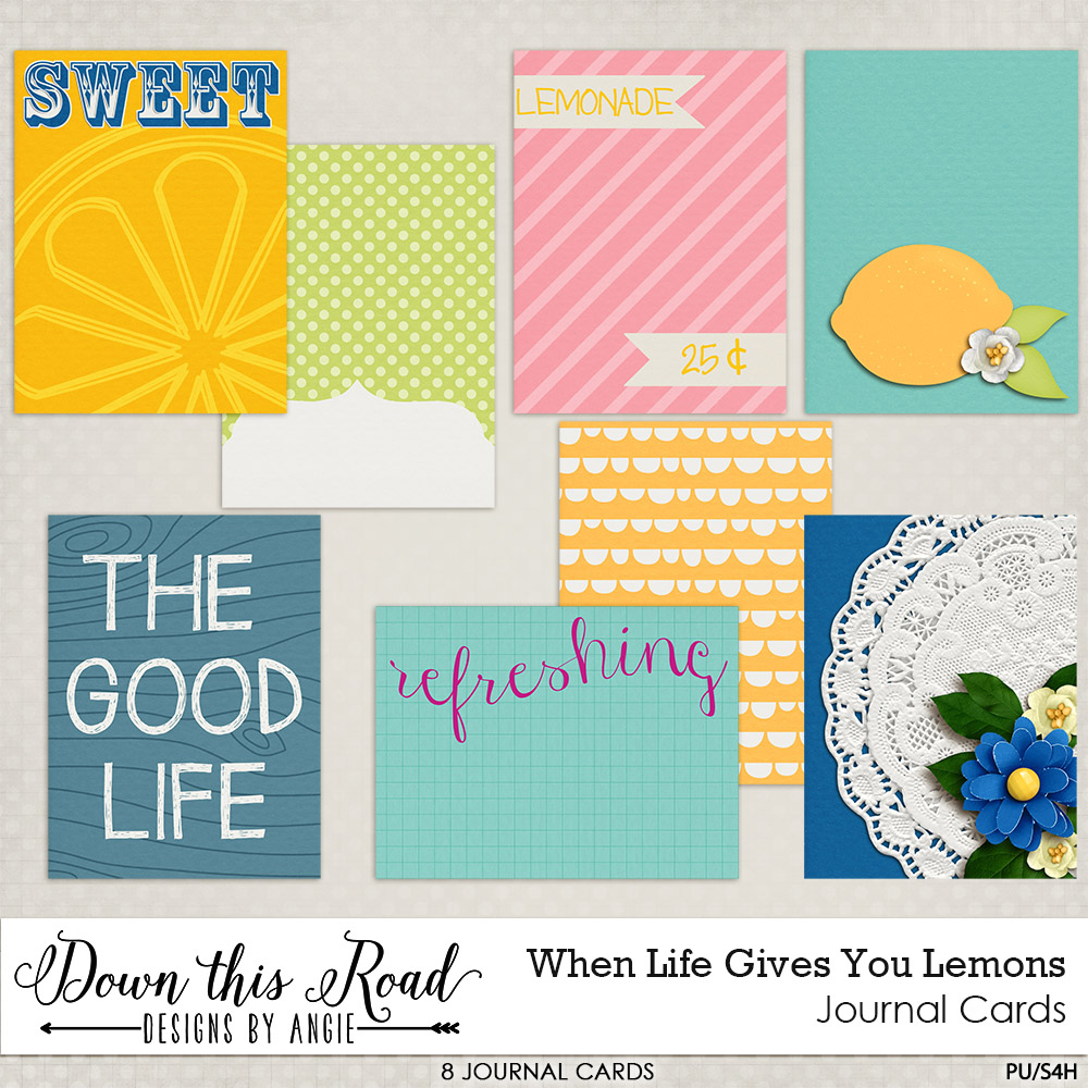 When Life Gives You Lemons Journal Cards