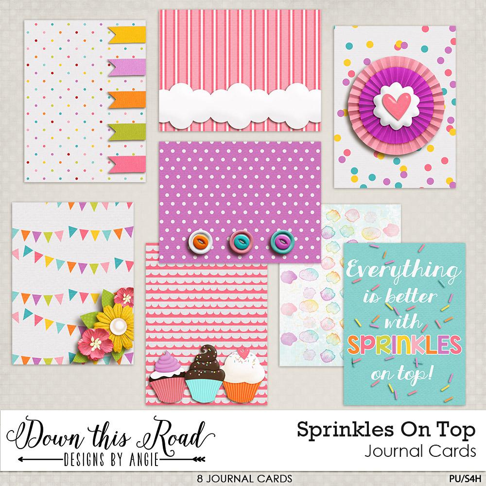 Sprinkles On Top Journal Cards
