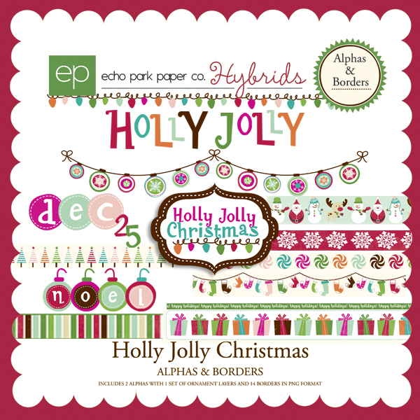 Holly Jolly Christmas.Holly Jolly Christmas Alphas Borders