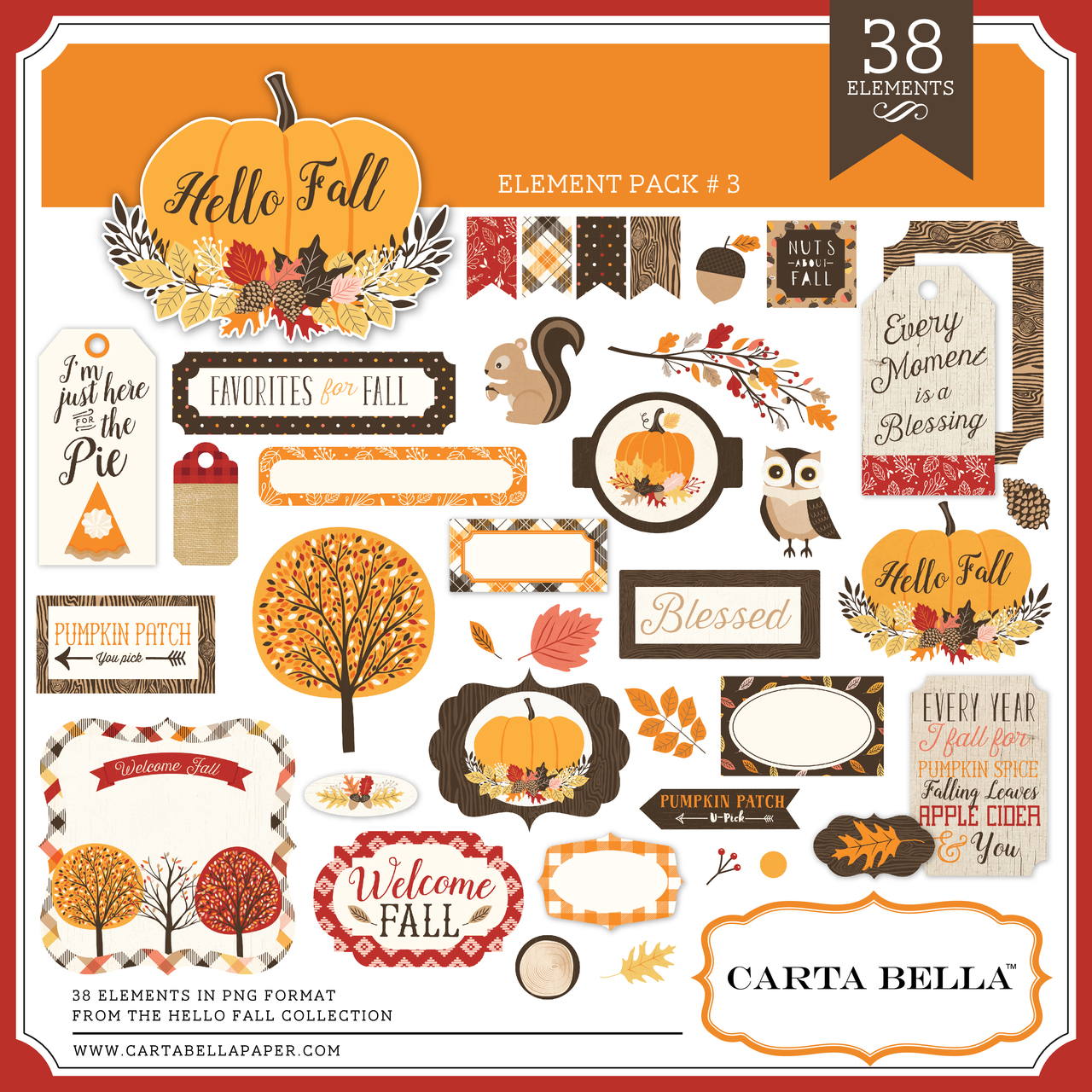 Hello Fall Element Pack #3