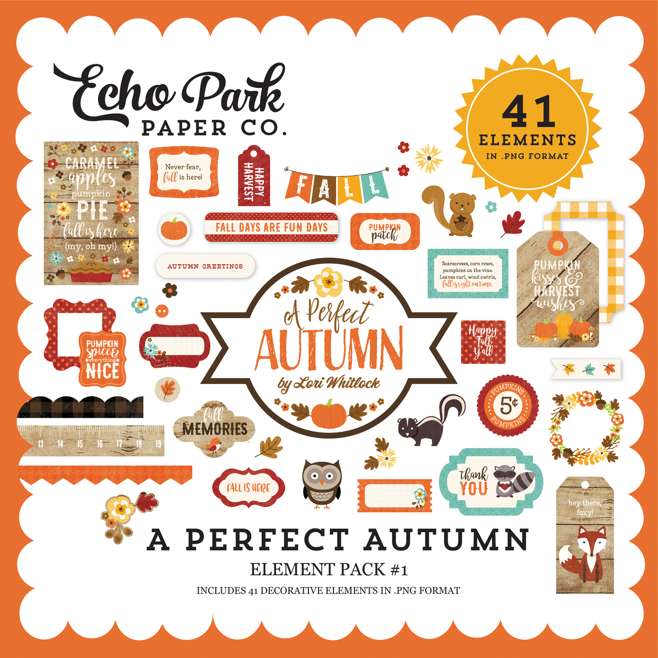 e2479d76f6 A Perfect Autumn Element Pack #1 - Snap Click Supply Co.