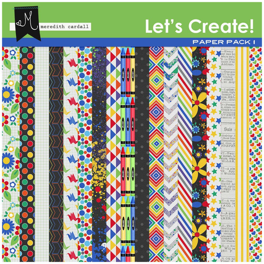 Let's Create Paper Pack 1