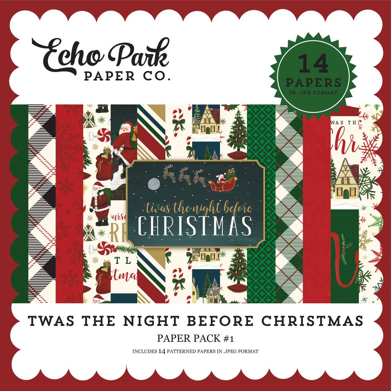 Twas the Night Before Christmas Paper Pack #1