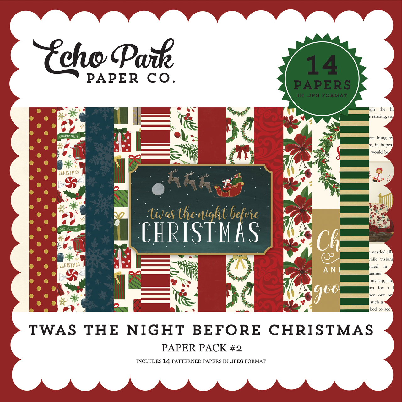 Twas the Night Before Christmas Paper Pack #2