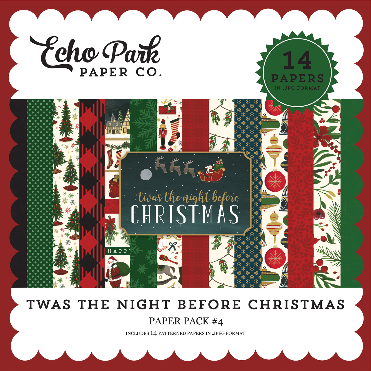 Twas the Night Before Christmas Paper Pack #4