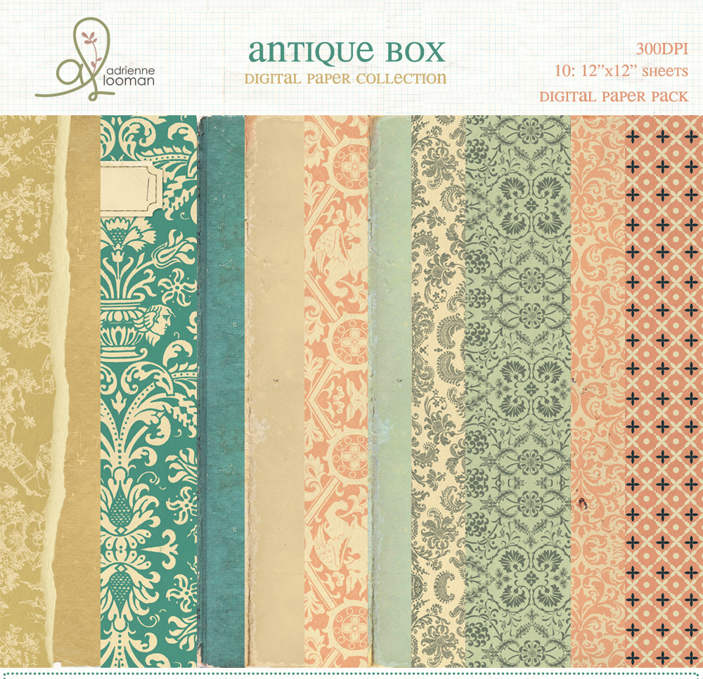 Paper Pack Antique Box