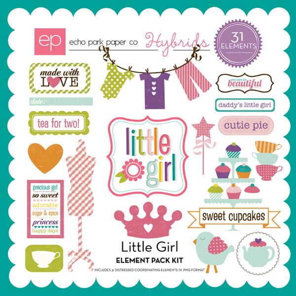 Little Girl Element Pack #1
