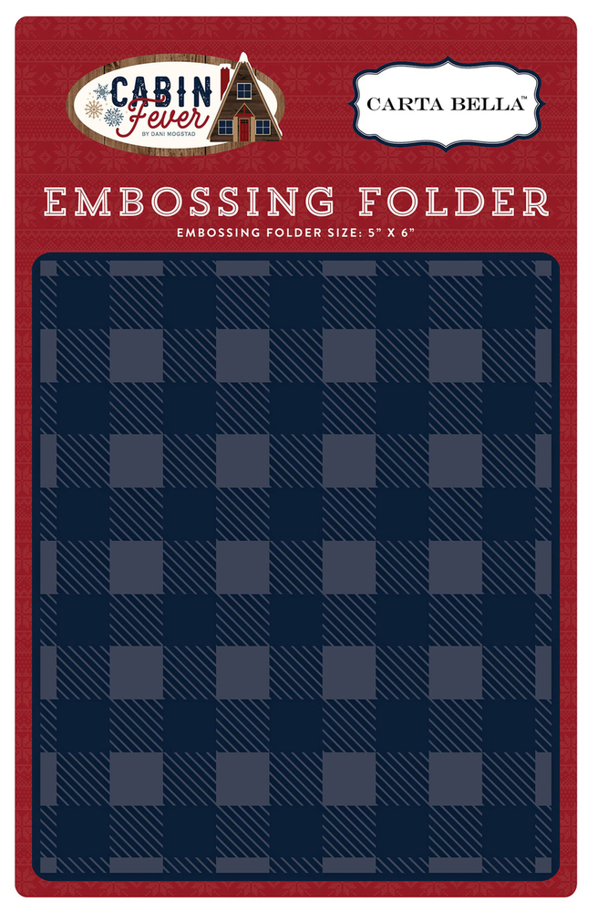 Cabin Fever Embossing Folder - Small Buffalo Plaid