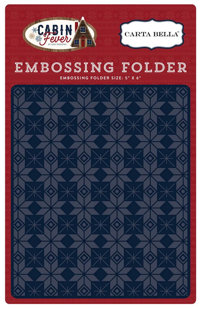 Cabin Fever Embossing Folder - Fair Isle