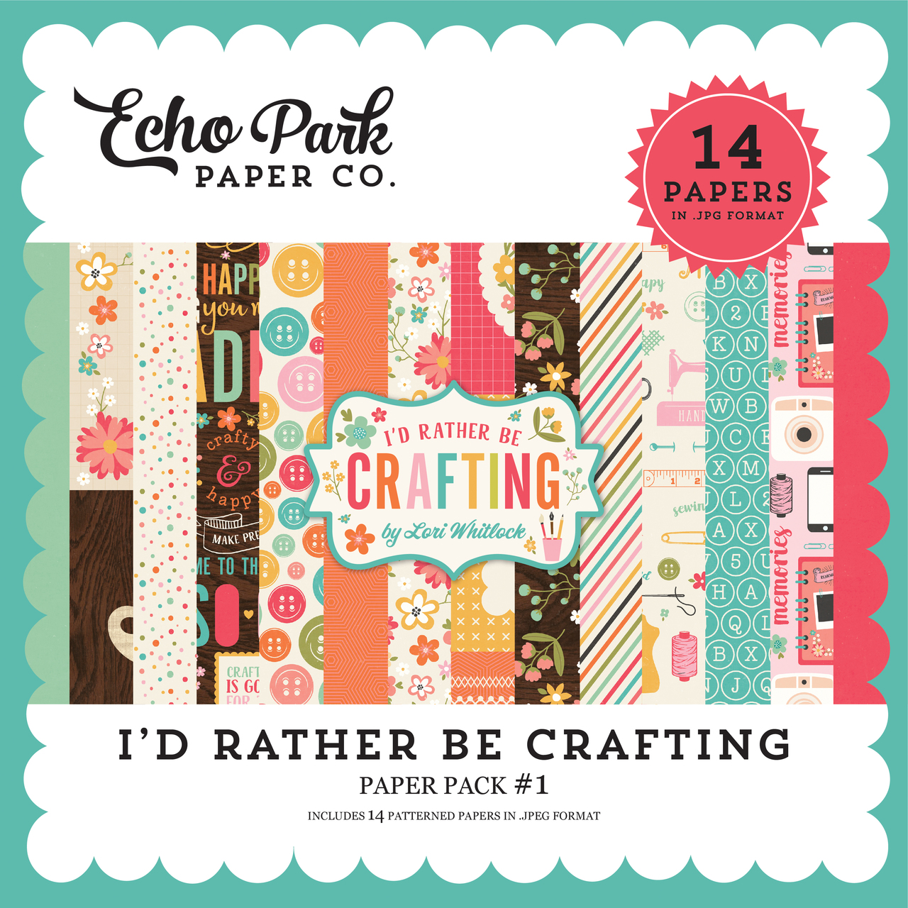 I'd Rather Be Crafting Paper Pack #1