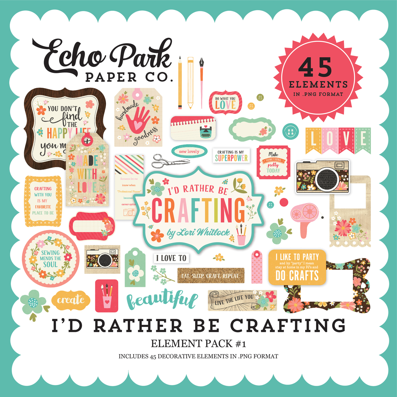 I'd Rather Be Crafting Element Pack #1