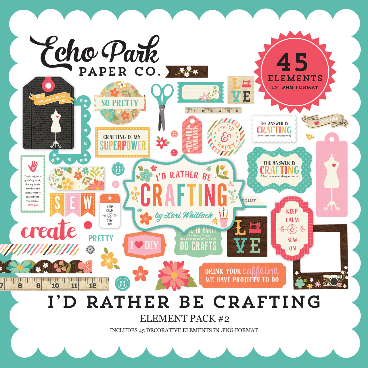 I'd Rather Be Crafting Element Pack #2