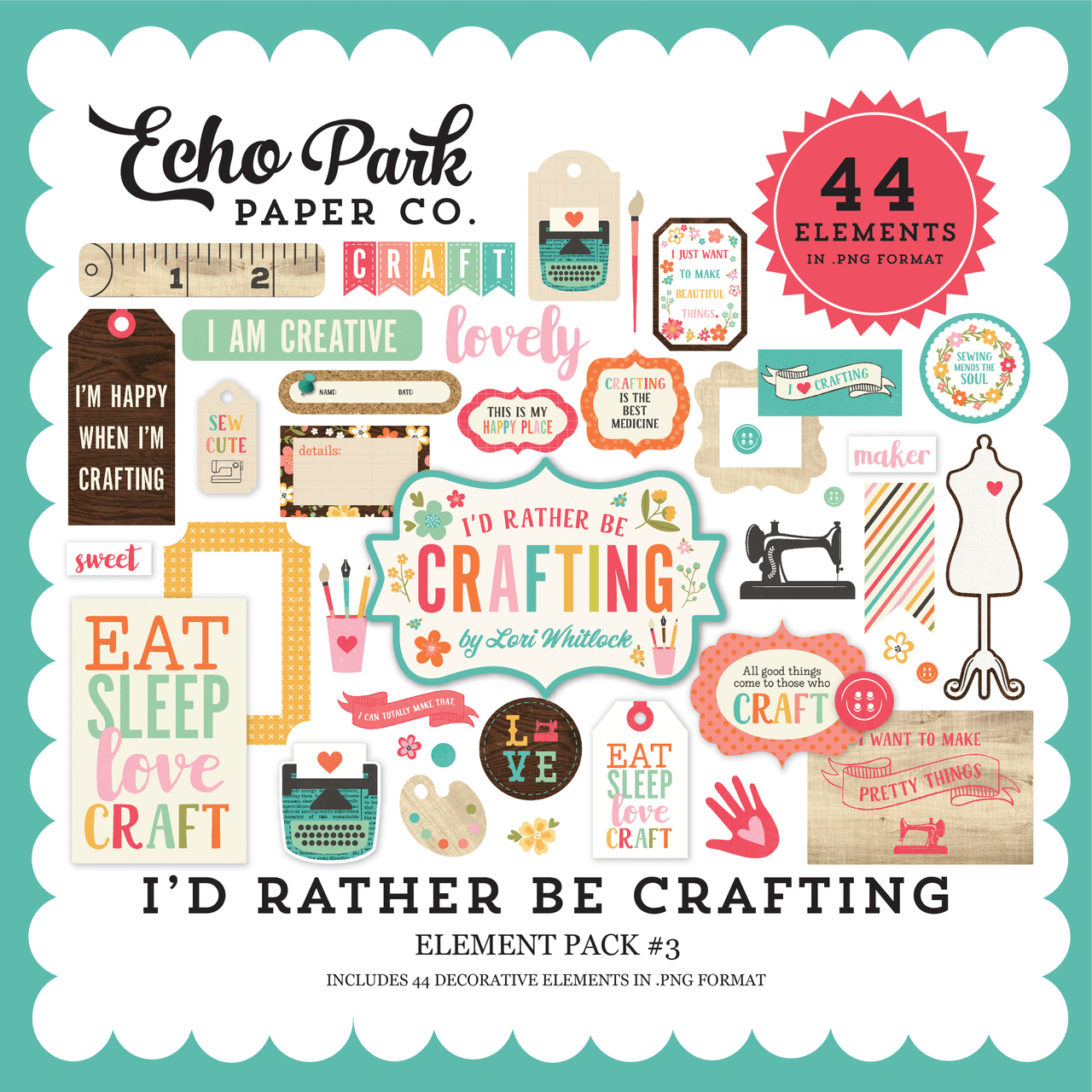 I'd Rather Be Crafting Element Pack #3