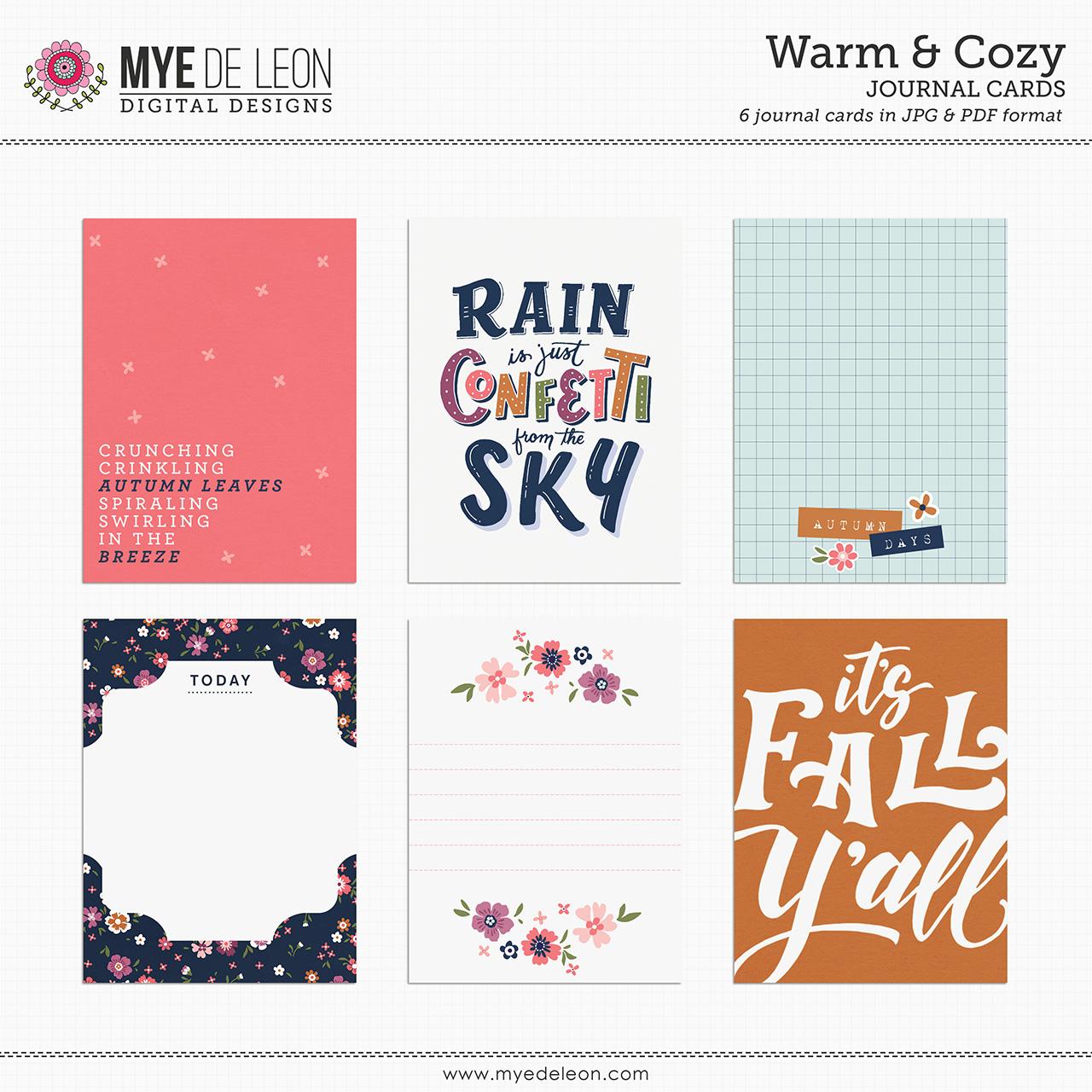 Warm & Cozy   Journal Cards
