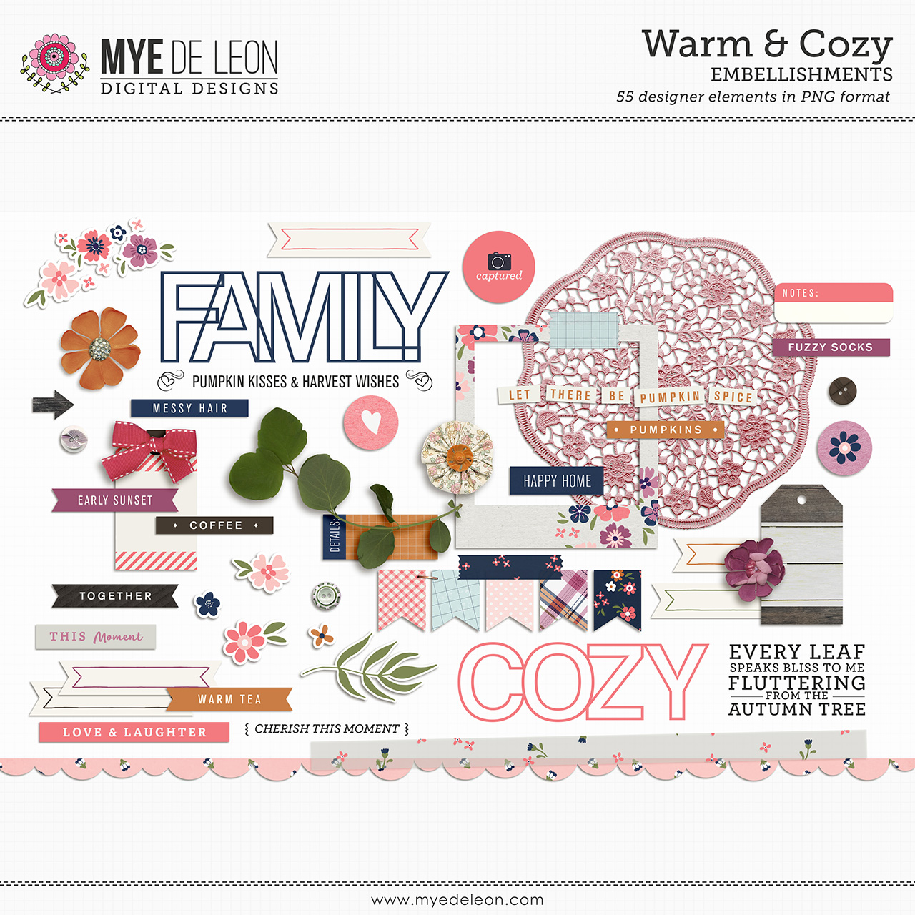 Warm & Cozy | Embellishments