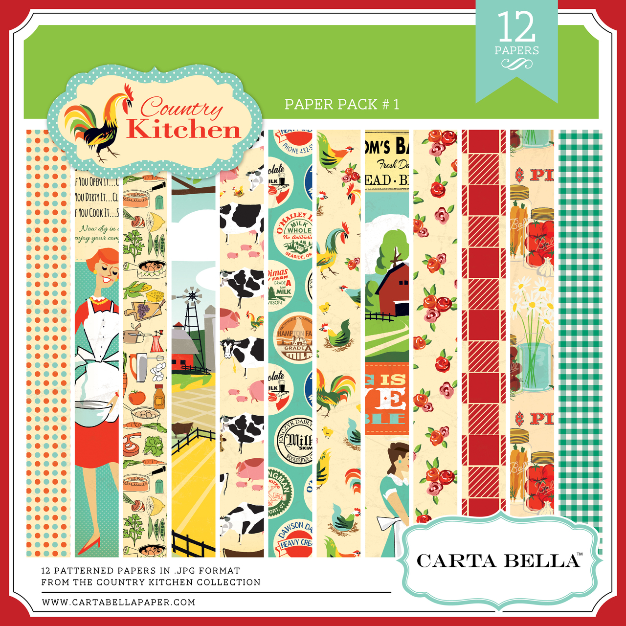 Country Kitchen Paper Pack #1