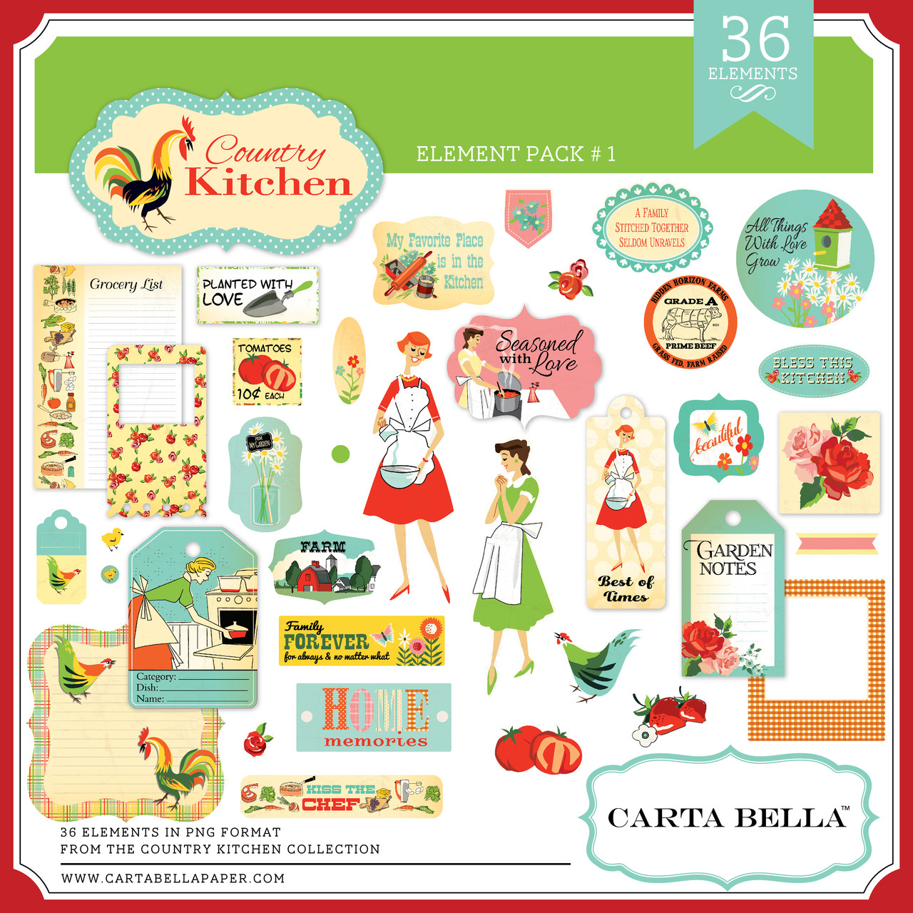 Country Kitchen Element Pack #1