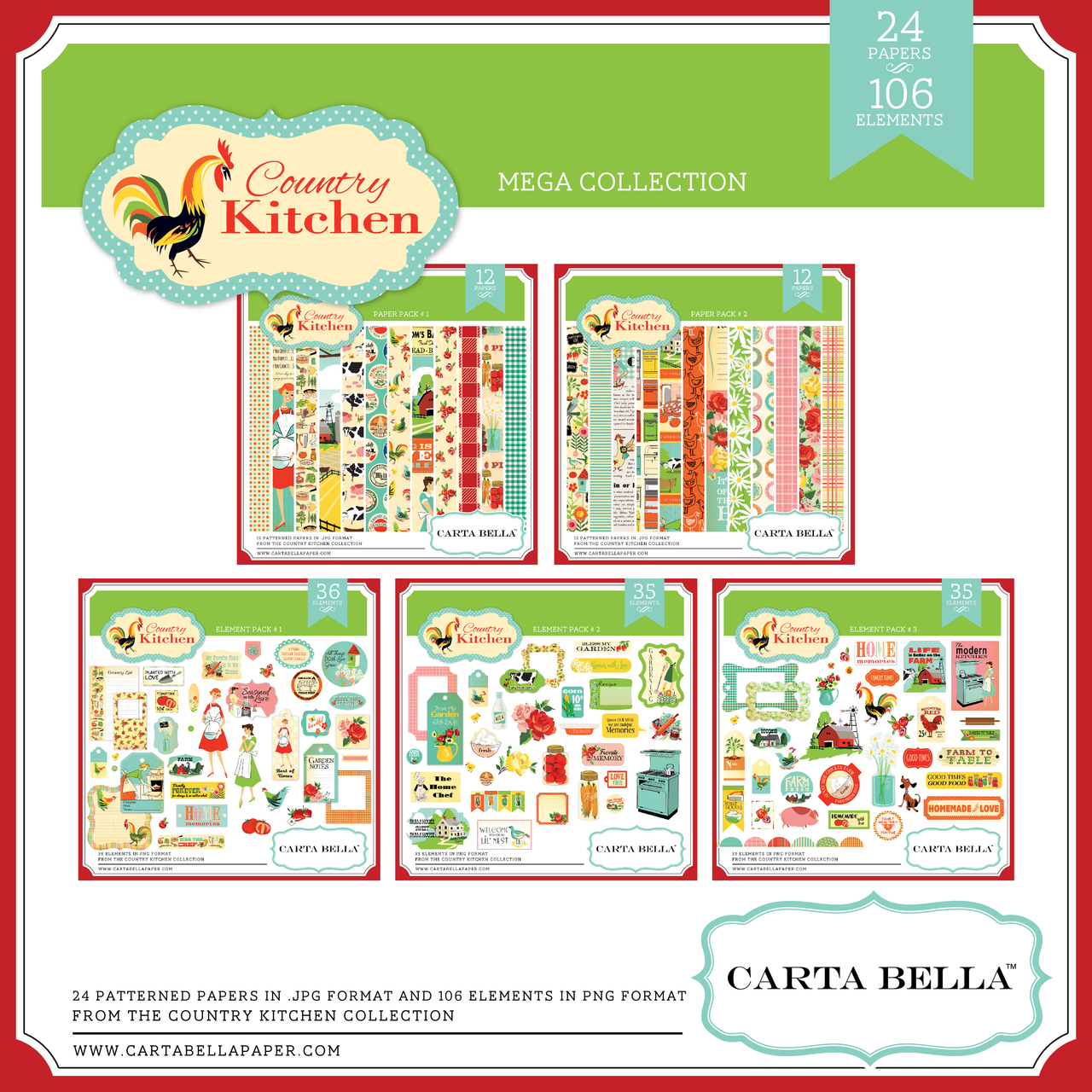 Country Kitchen Mega Collection
