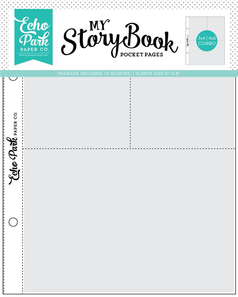 4x6/3x4 Pockets - 6x8 Pocket Page 10 Sheet Pack
