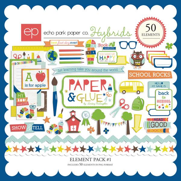 Paper & Glue Element Pack #1