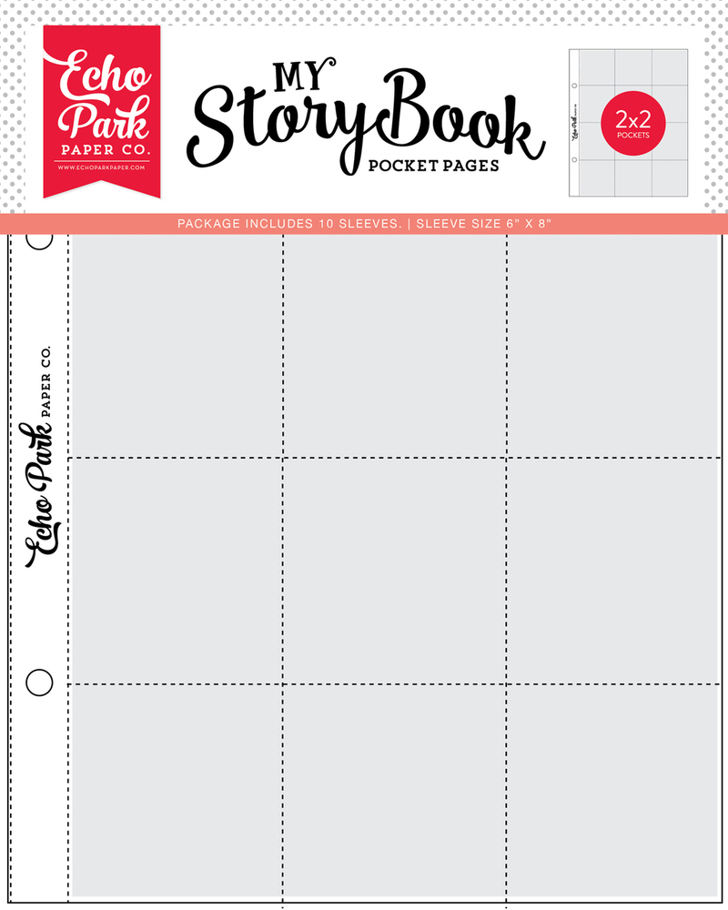 2x2 Pockets - 6x8 Pocket Page 10 Sheet Pack