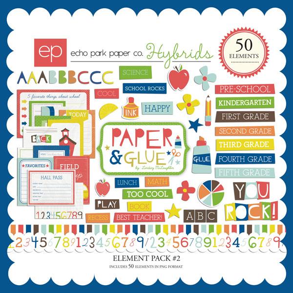 Paper & Glue Element Pack #2