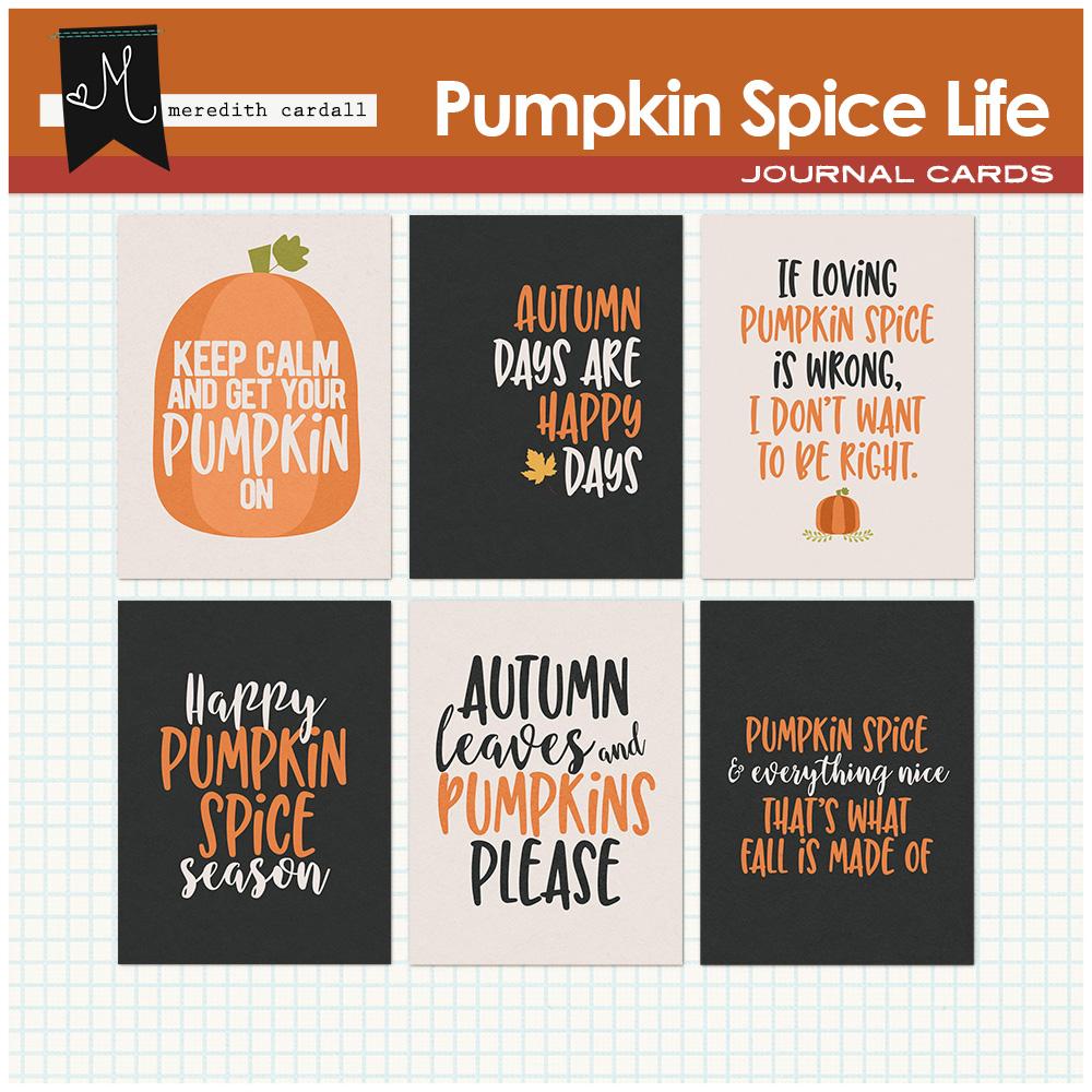 Pumpkin Spice Life Cards