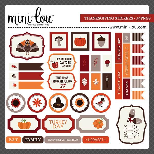 ML Thanksgiving Stickers
