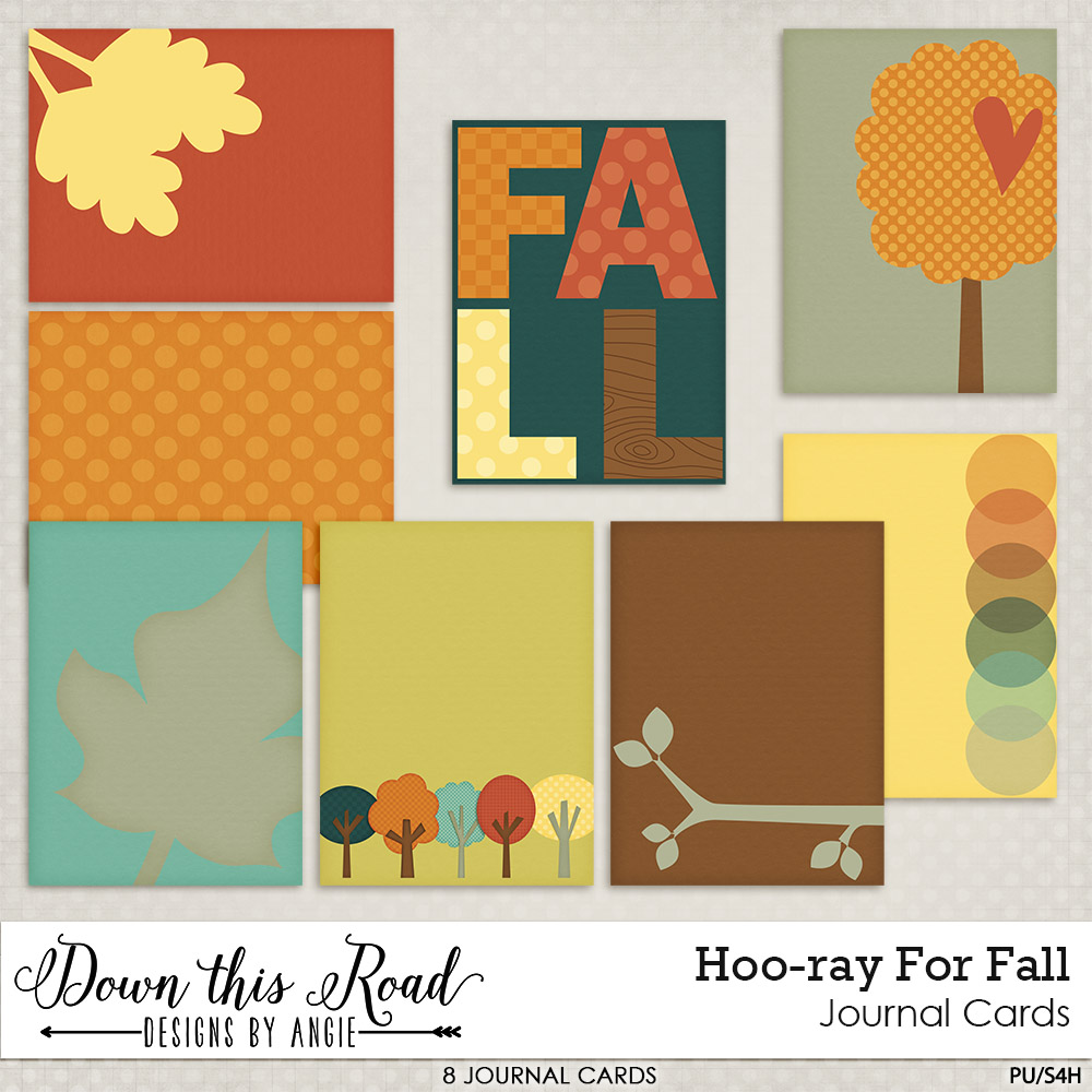 Hoo-ray For Fall Journal Cards