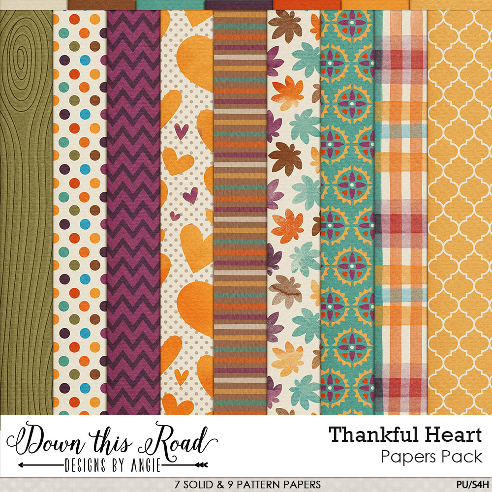 Thankful Heart Paper Pack