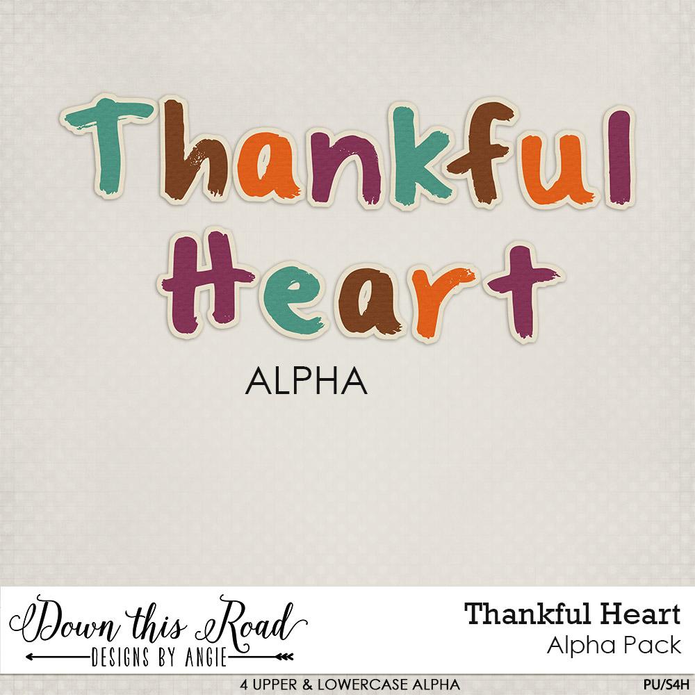 Thankful Heart Alpha Pack