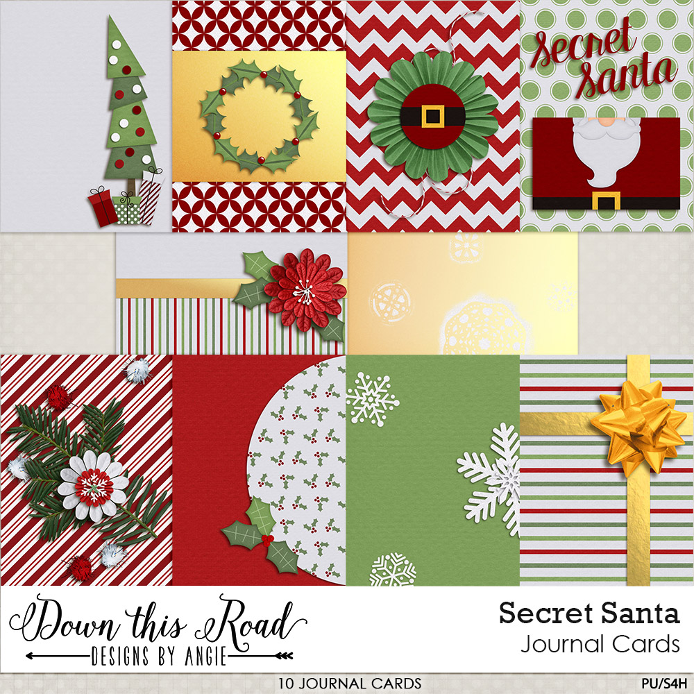 Secret Santa Journal Cards