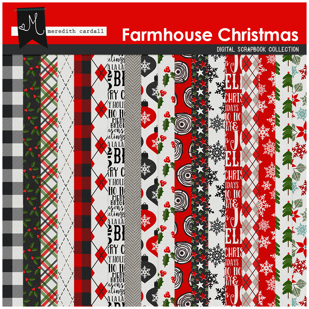 Farmhouse Christmas Papers