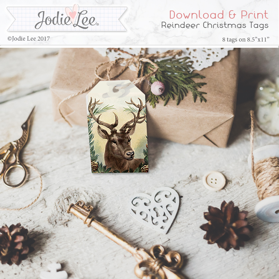 Printable Reindeer Christmas Gift Tags
