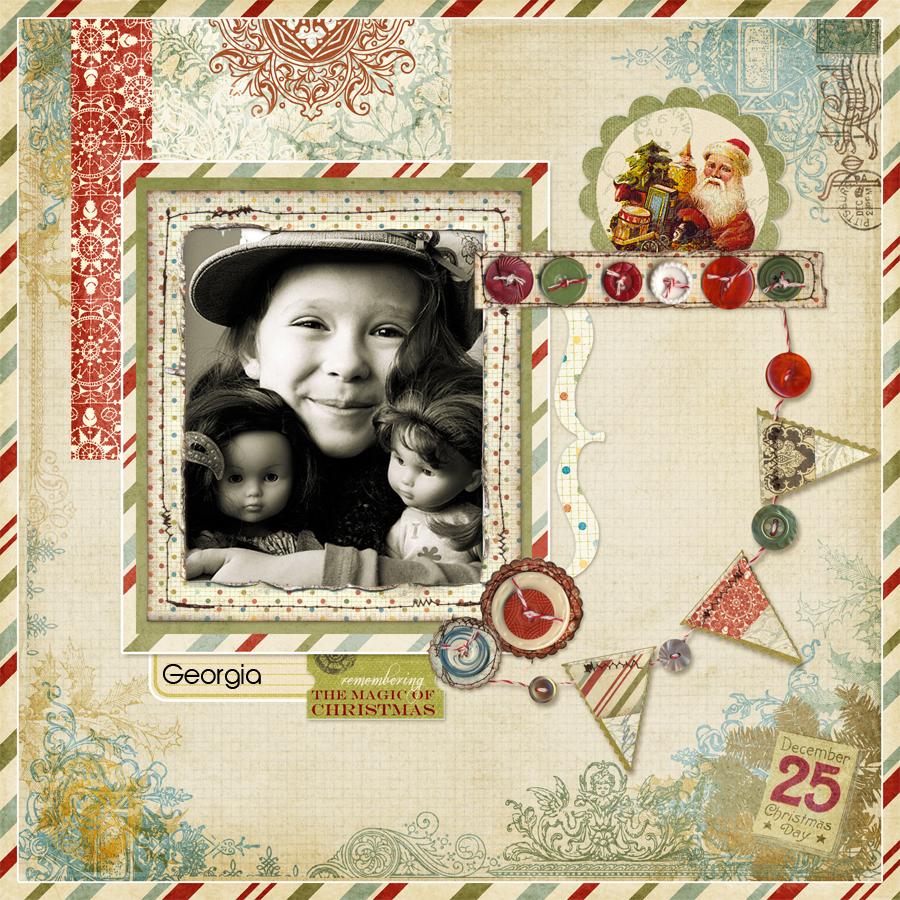 Vintage Santa Digital Frame