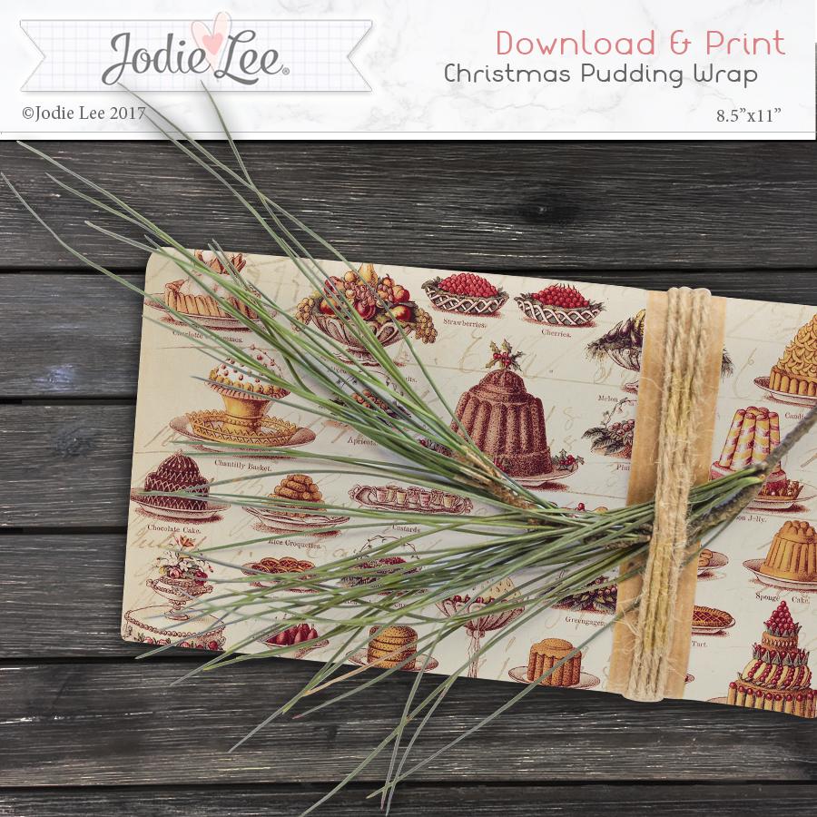 Printable Christmas Wrap Paper - Vintage Pudding