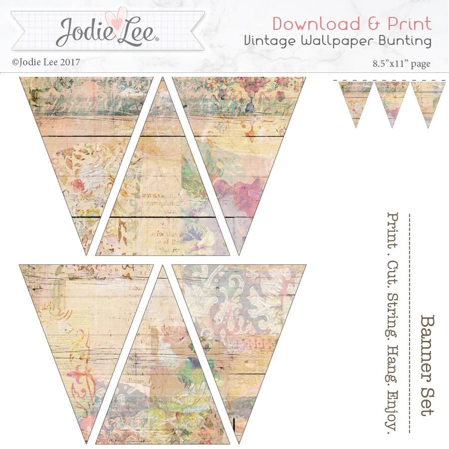 graphic regarding Printable Wallpaper named Printable Xmas Bunting - Shabby Stylish Classic Wallpaper