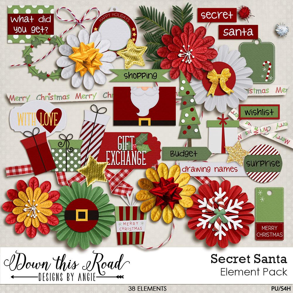 Secret Santa Element Pack