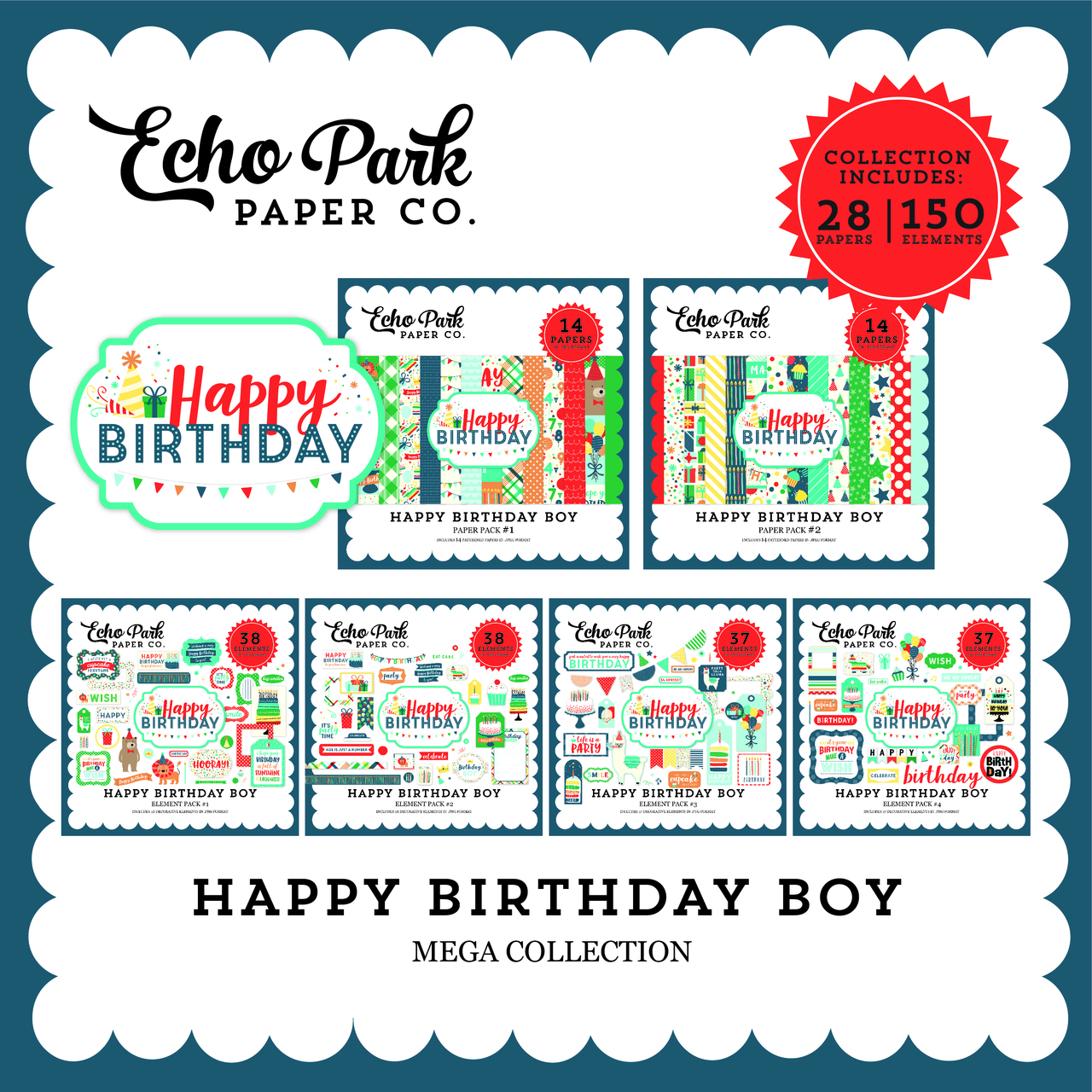 Happy Birthday Boy Mega Collection