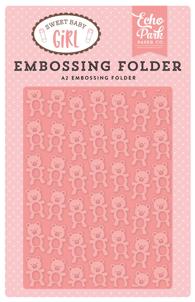 Sweet Baby Girl Embossing Folder - Teddy Bear
