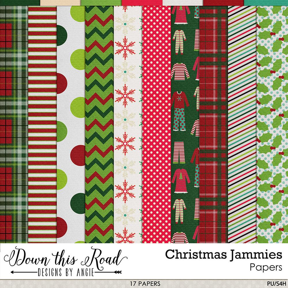 Christmas Jammies Paper Pack