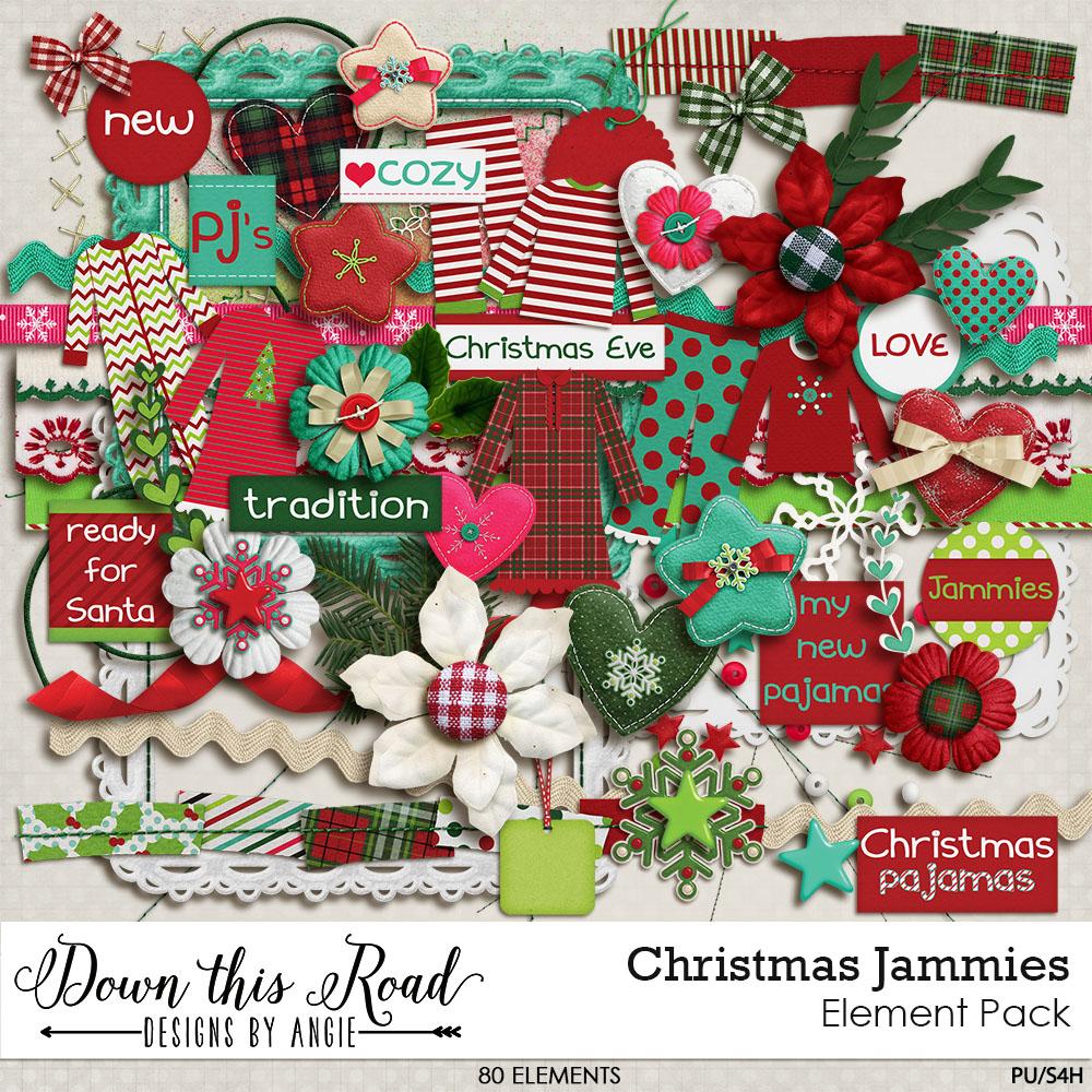 Christmas Jammies Element Pack