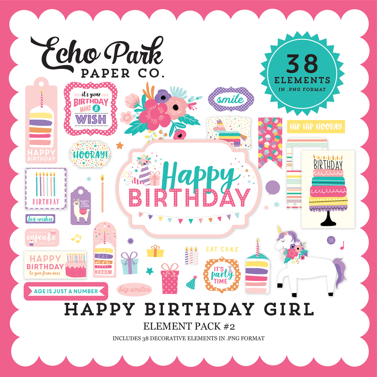 Happy Birthday Girl Element Pack #2