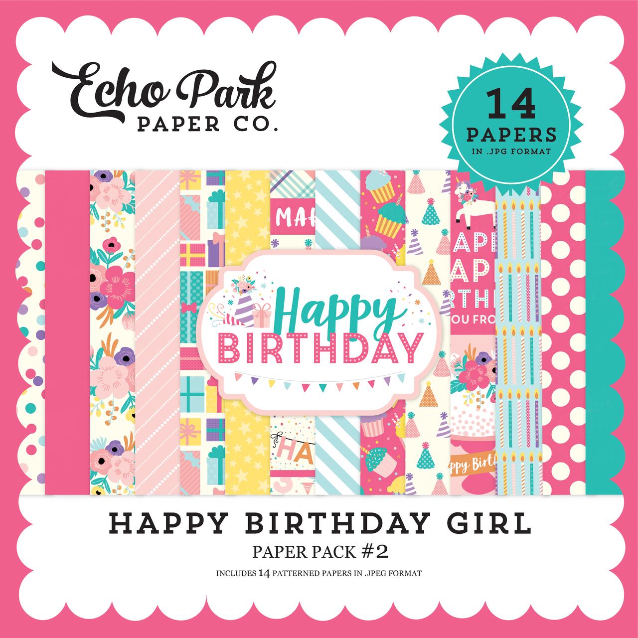 Happy Birthday Girl Paper Pack #2