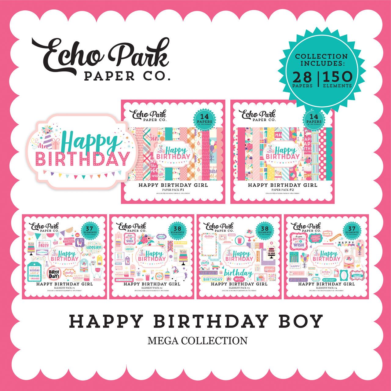 Happy Birthday Girl Mega Collection