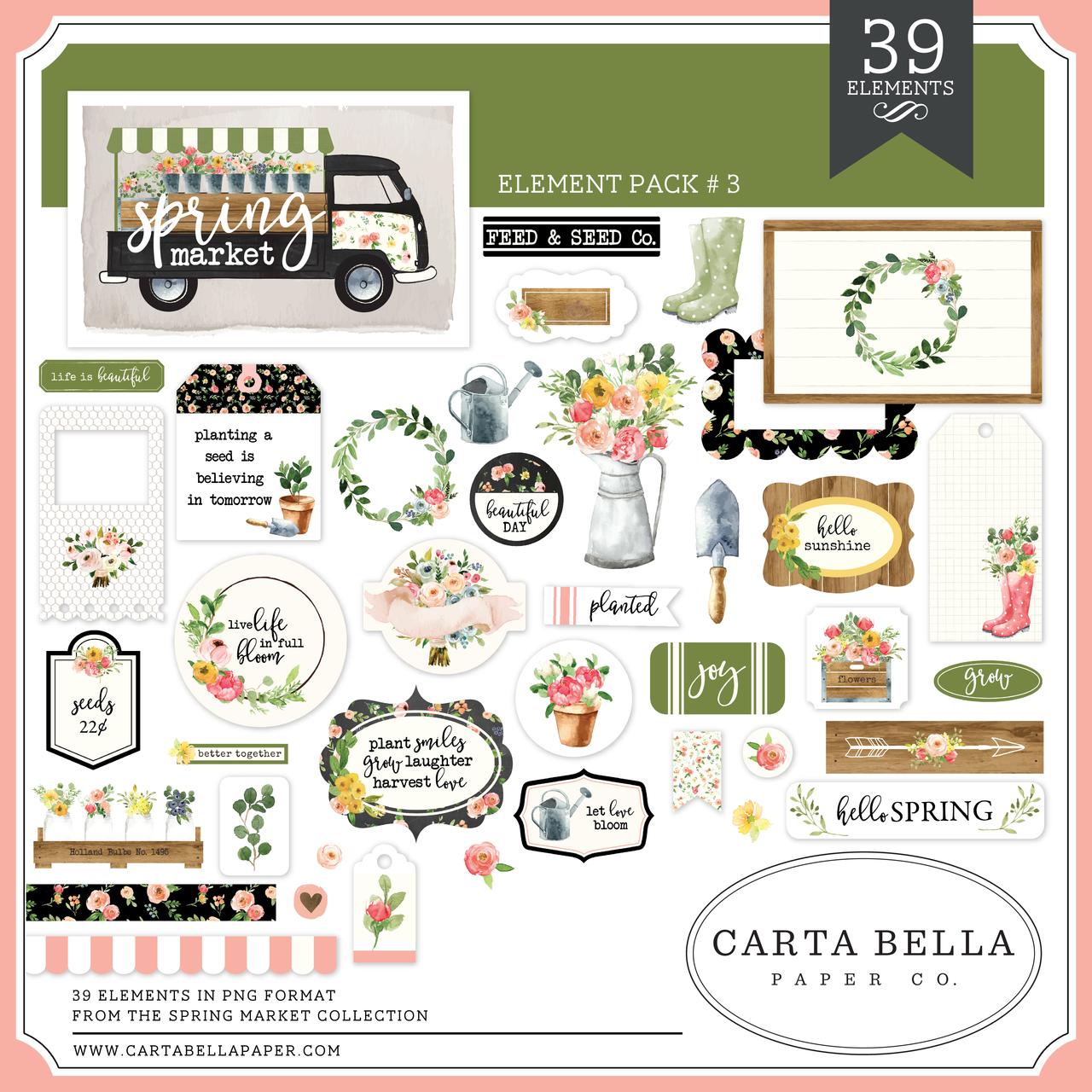 Spring Market Element Pack #3