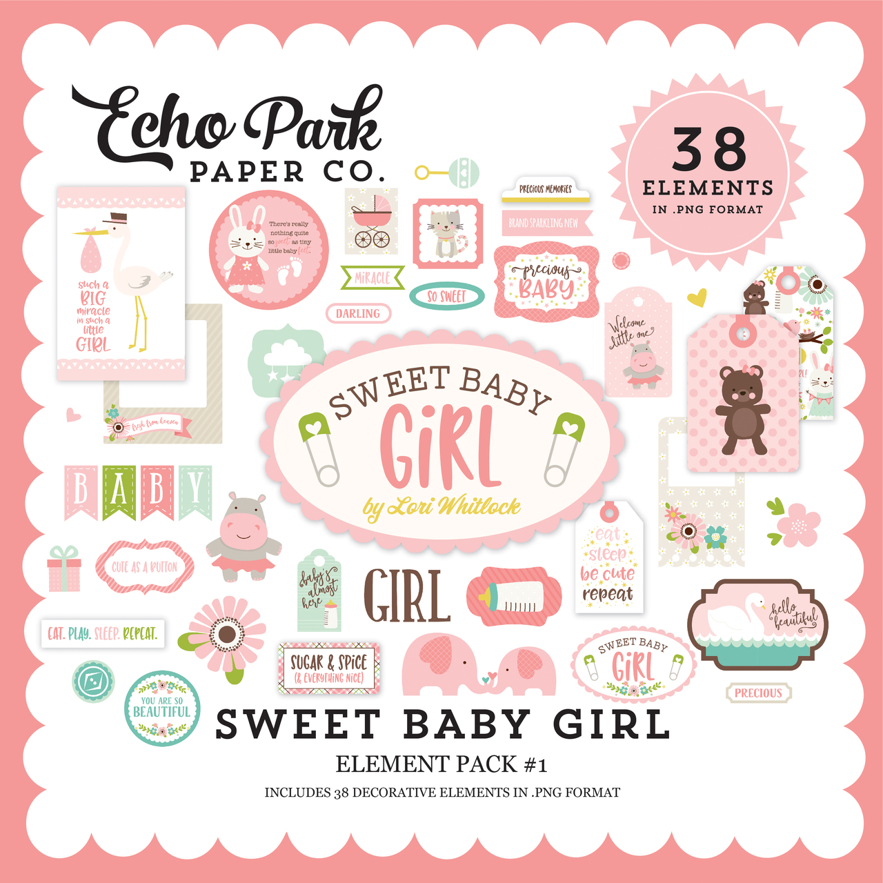 Sweet Baby Girl Element Pack #1